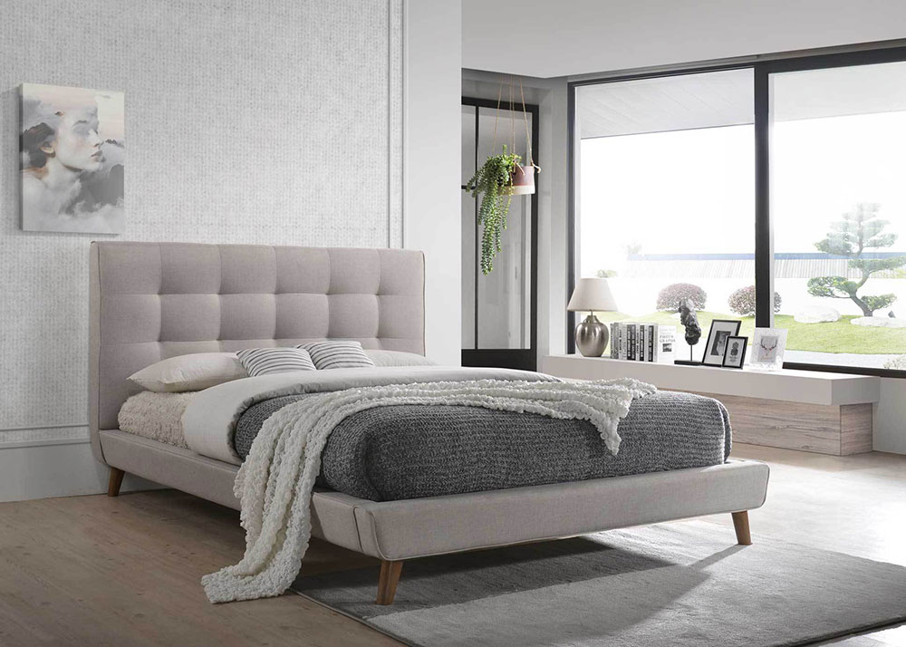 Millian Fabric Bed Frame