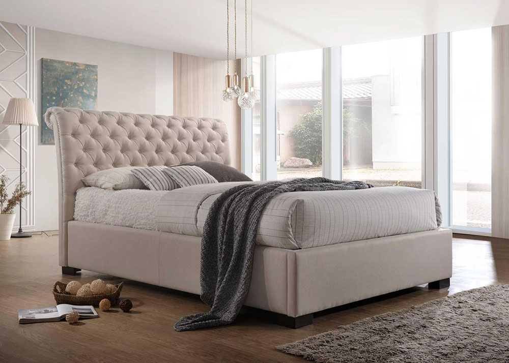Crystal Fabric Bed Frame