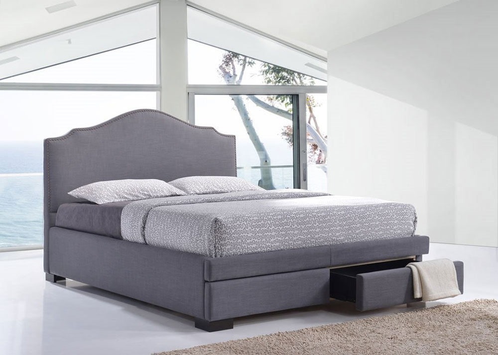 Esher 2 Drawers Fabric Bed Frame