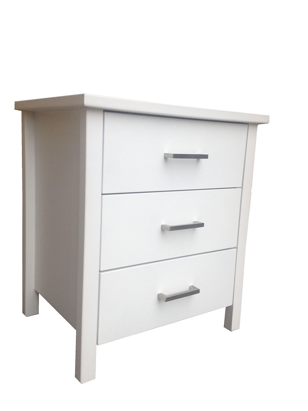 Hawaii 3 Drawer Bedside Table