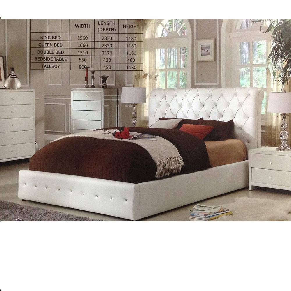 Diamenti Leatherette Bed Frame