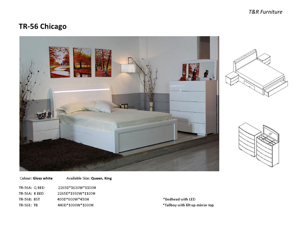 Chicago 4 Piece Bedroom Suite