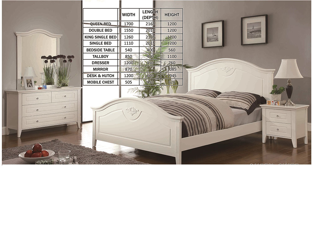 Verona 4 Piece Bedroom Suite