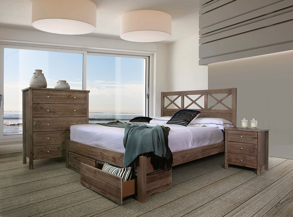 Yarra 2 Drawer Timber Bed Frame
