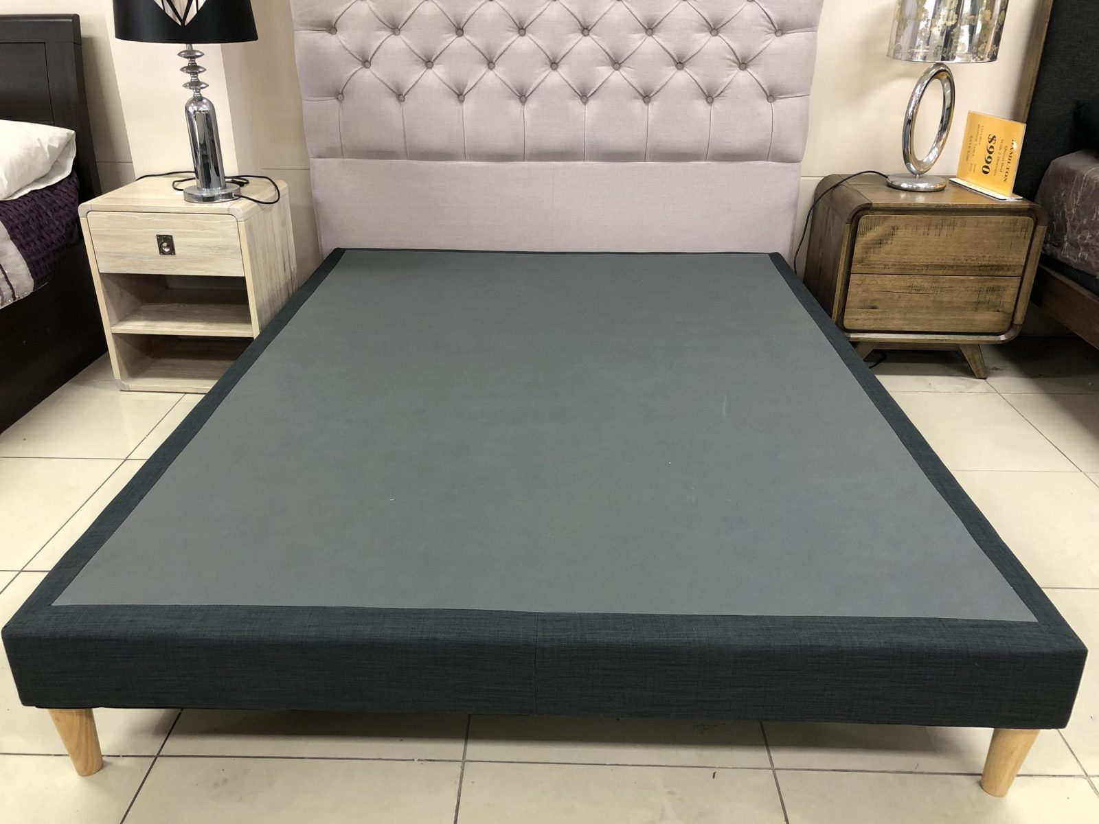 Upholstered Platform Bed Base