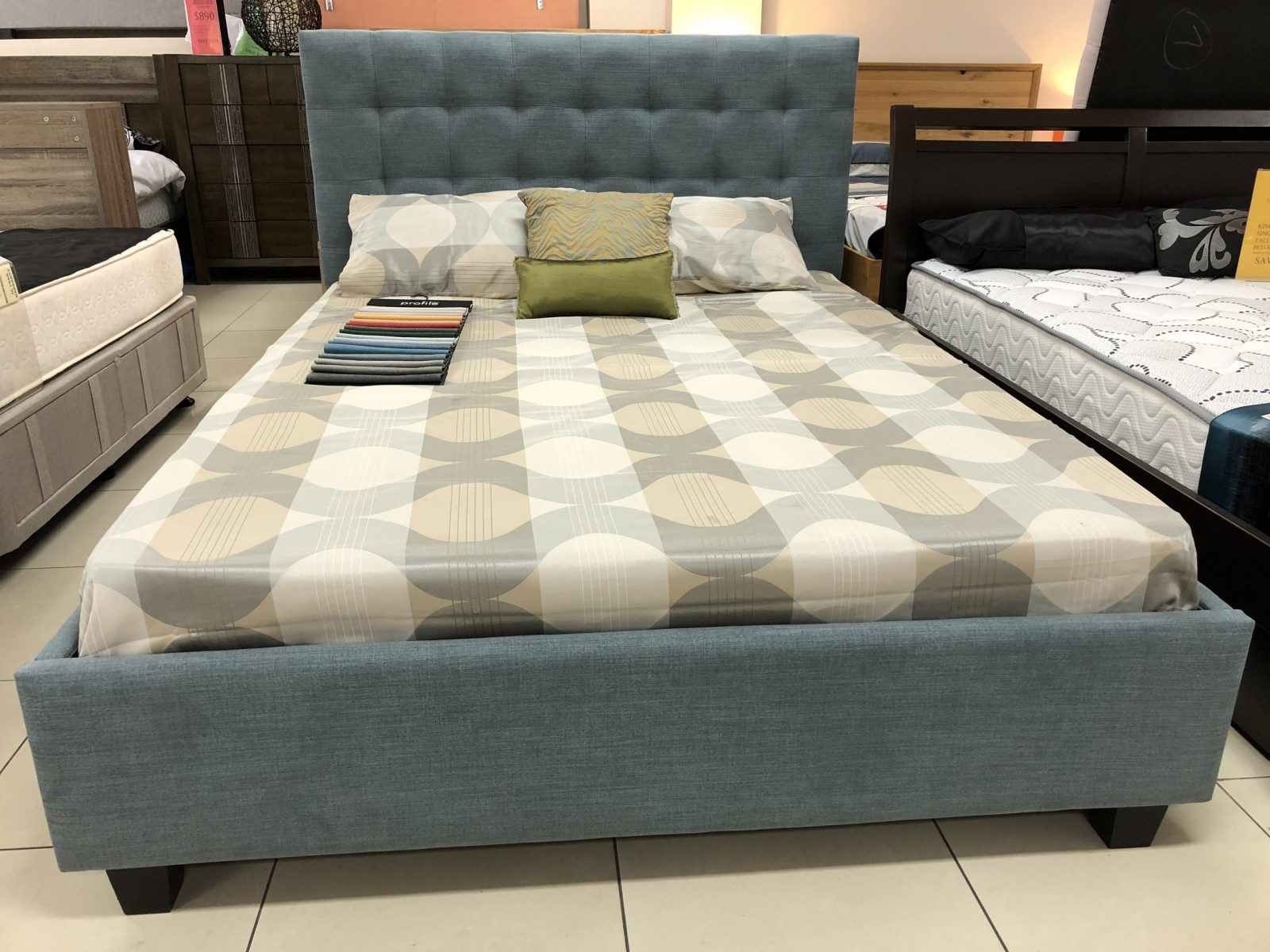 Isabella Bed Base with Bedhead