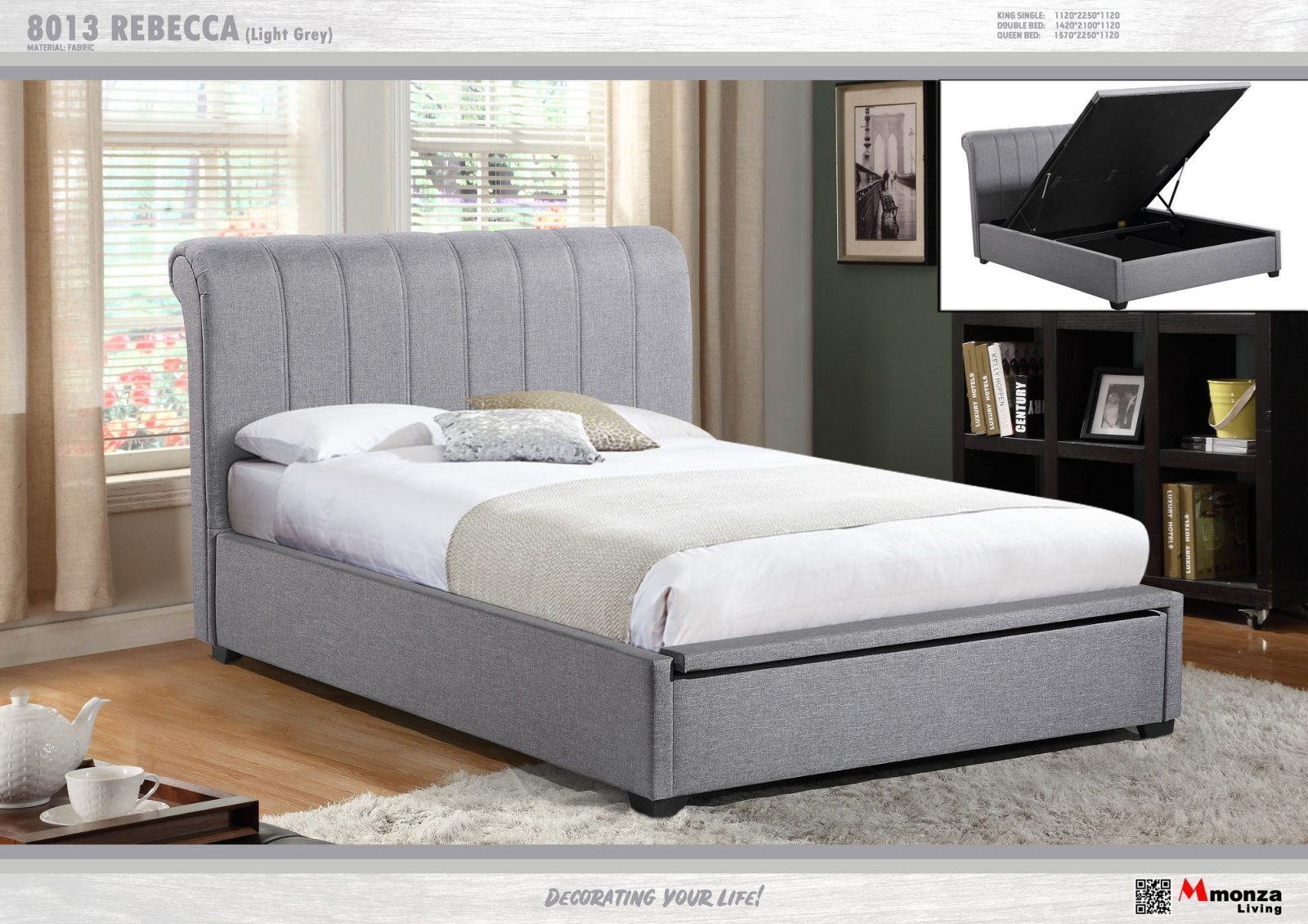 Rebecca Gas Lift Bed Frame