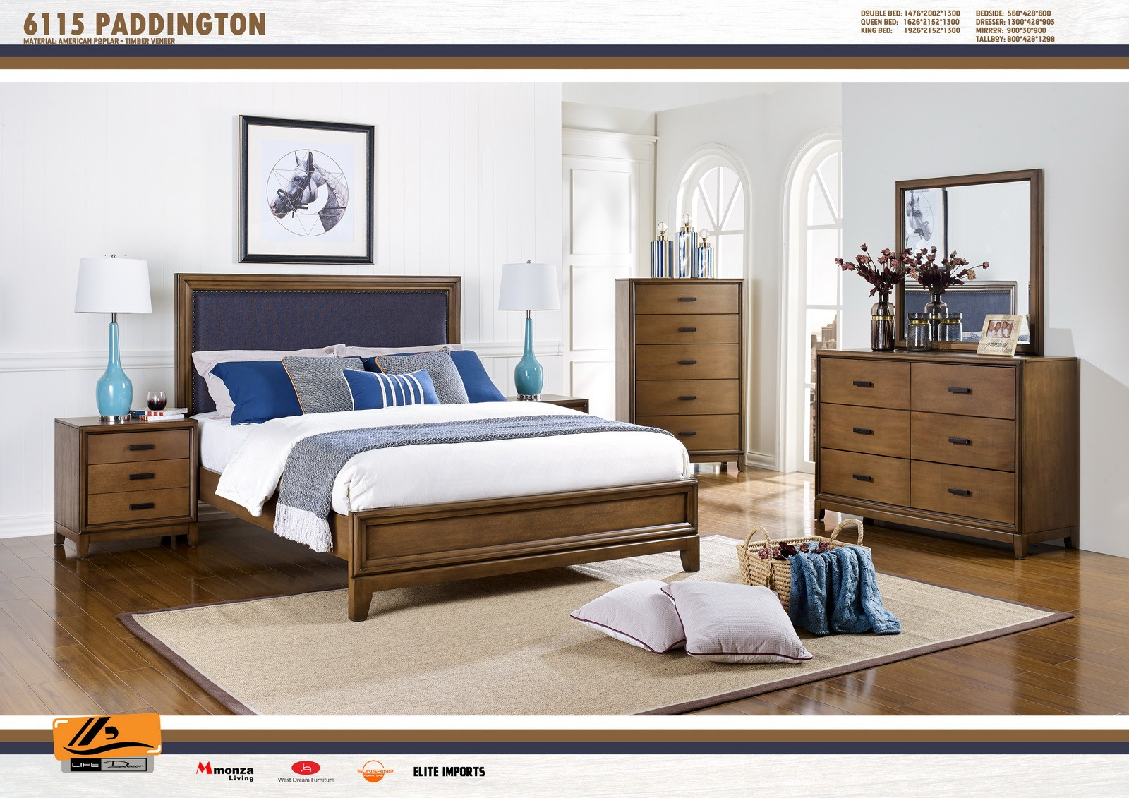Paddington 4 Piece Bedroom Suite