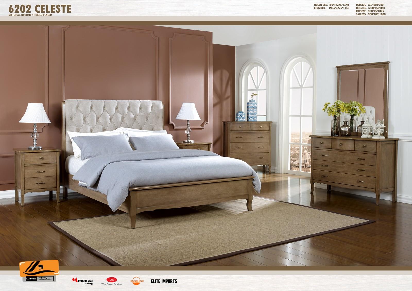 Celeste 4 Piece Bedroom Suite